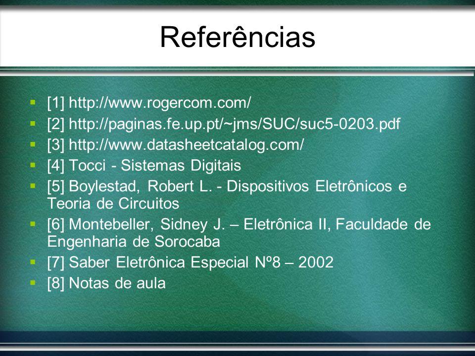 Referências [1] http://www.rogercom.com/